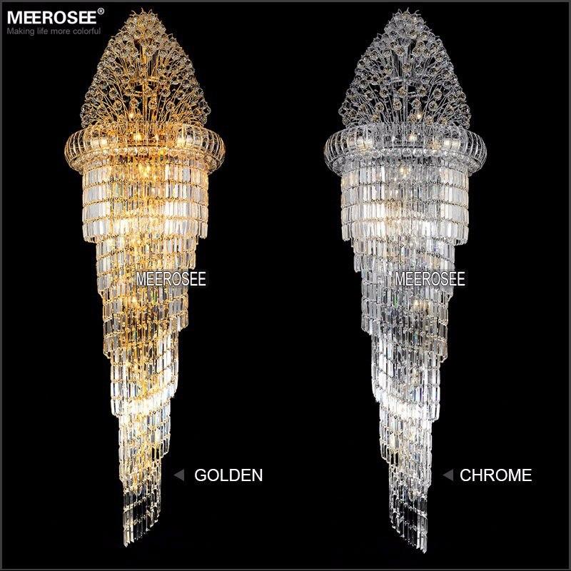 Lang krystal lysekrone Lysarmatur Klassisk gylden krom Hotel Crystal - Indendørs belysning - Foto 3