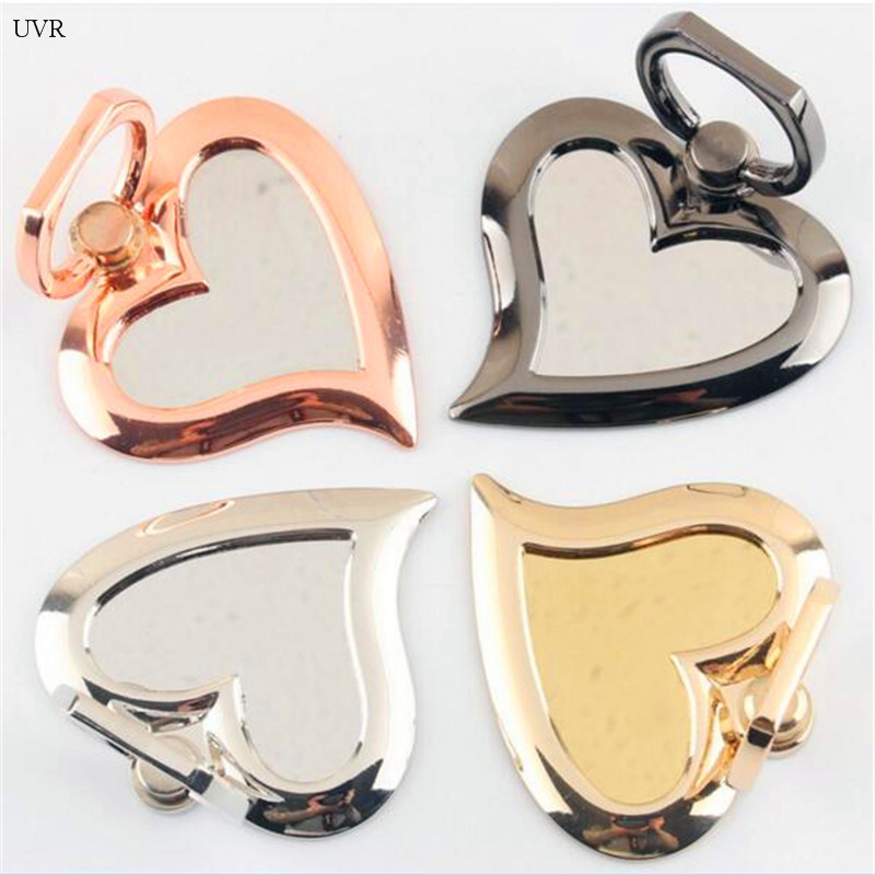 UVR 360 Degree Mobile Phone Stand Holder Heart Mirror For Huawei All Phone Finger Ring Mobile Smartphone Phone Holder Stand