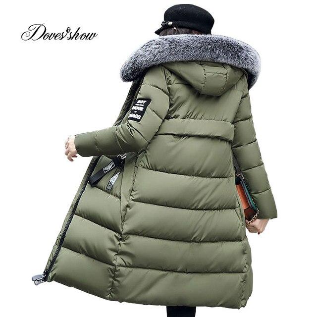 Gewatteerde Winterjas.Winterjas Vrouwen Mode Gewatteerde Jas Hooded Bontkraag Overjas