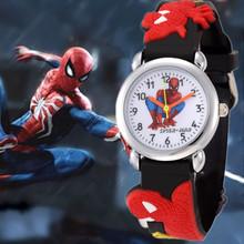 New Arrival Spider-Man Cartoon Watch For Children Boys Kids Student Quartz Watch Luxury Brand Cartoon Wristwatch Clock Horloge