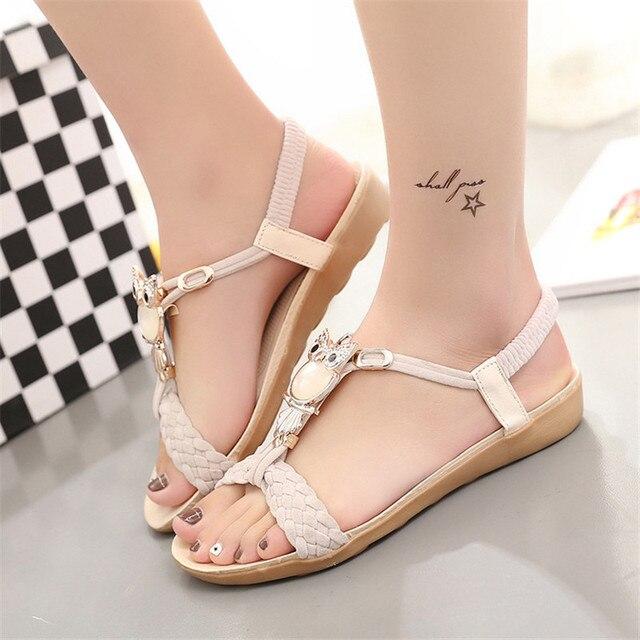 Us6 11 Sandals 53OffBuy Sandalia 2019 Summer Gladiator Feminina Casual Shoes Women Owl Rome ynON0mv8w