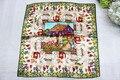 100% шелковый шарф, китайский стиль живописи, квадратный шарф, размер : 50 x 50 12 мм, счастлива кошка