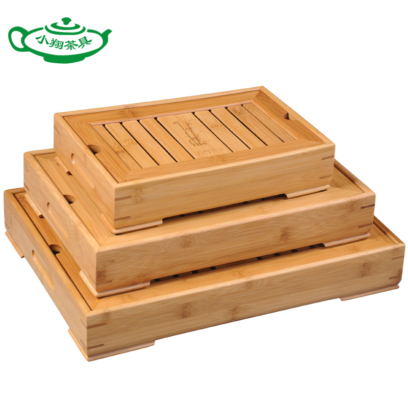 100% Bamboo  kung fu tea set bamboo tea tray bamboo tea saucer large sea water type tea table storage tray trumpet ru tea sets new wholesale ceramic italics opening film ru kung fu tea gift box gift