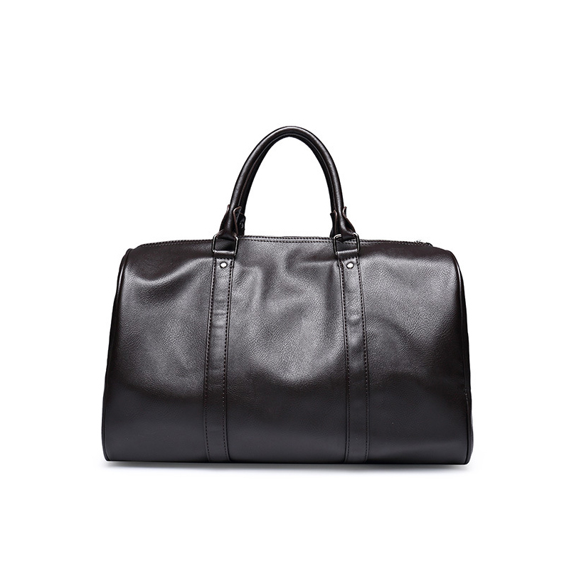 Business Casual Men Travel Bag Pu Leather Quality Shoulder Bag Boy Fitness Handbag Black Large Capacity Duffel Bag