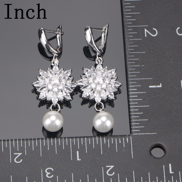 Bridal Costume White Cubic Zirconia Jewelry Sets 2