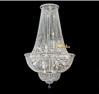 QUALITY CHROME EMPIRE 39 X71 CHANDELIER CRYSTAL CHANDELIER LIGHTING Free Shipping