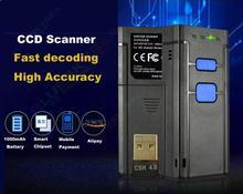 Оптовая 10 ШТ. Мини Портативный Беспроводной Bluetooth CCD Лазерный Сканер Штрих-кода для Apple iOS Android Windows_DHL