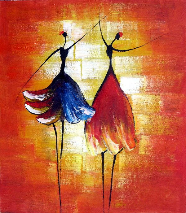 Hand Painted Oil Wall Art Beauty Dancer Home Decoration -4071