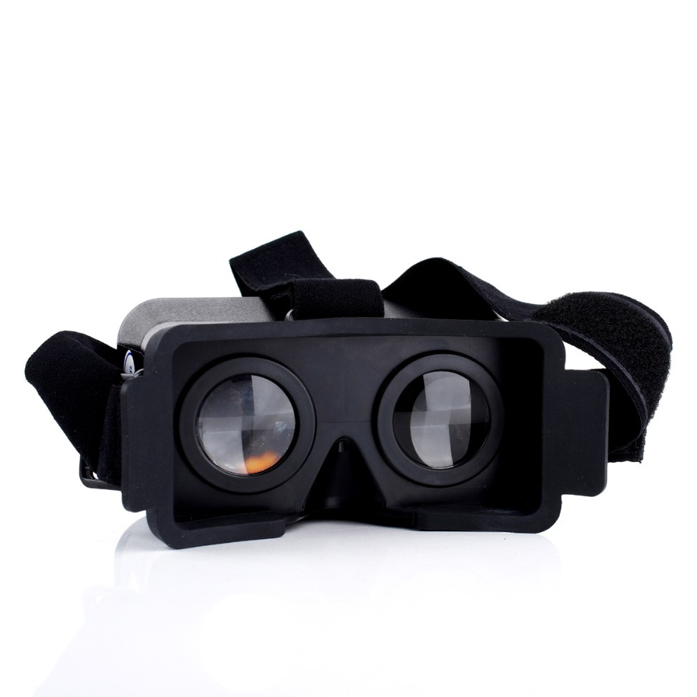 2015 Virtual Reality 3D Viewing Glasses <font><b>For</b></font> <font><b>iPhone</b></font> <font><b>5</b></font> 5s 5c <font><b>Cardboard</b></font> <font><b>Head</b></font> <font><b>Mount</b></font> Plastic Virtual Reality 3D Video