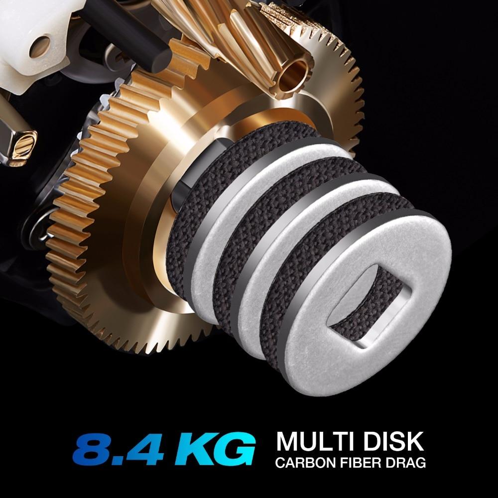 Piscifun Perseus moulinet de pêche 8.4 KG Max frein magnétique + frein centrifuge 6 roulements léger pêche Graphite Baitcasting moulinet - 2