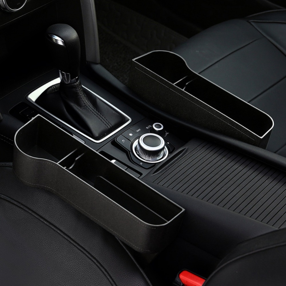 Car Seat Organizer Crevice Storage Box Grain Car Organizer Gap Slit Filler Holder For Wallet Phone Slit Pocket Accessories