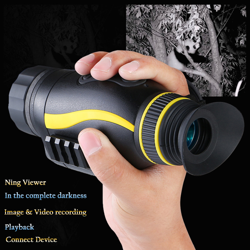 Image 2 - Latest New Digital Night Vision Goggles 4x35 HD Infrared IR Camcorder Monocular Hunting Scope Multi Function Night Viewer Device-in Night Visions from Sports & Entertainment