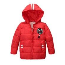 Winter Warm Thicken Fur Collar Striped Child Coat Children Outerwear Windproof Fleece Liner Baby Girls Boys Jackets For 90-110cm