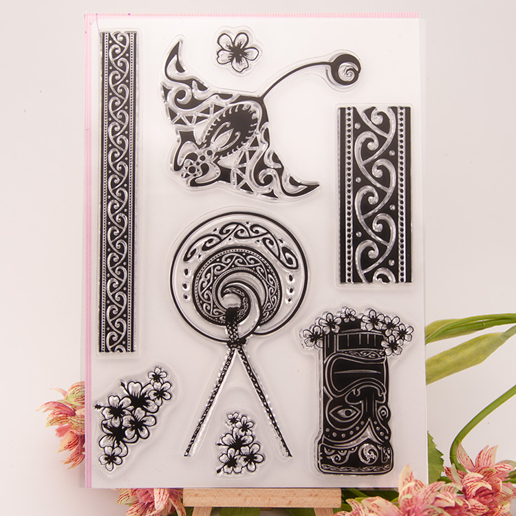 Vintage flower new Scrapbook DIY Photo Album Account Transparent Silicone Rubber Clear Stamps cartoon seal handwork art gift jwhcj vintage cat date wood roller stamps for children diy handmade scrapbook photo album diary book decoration students stamps