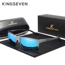 KINGSEVEN, брендовые дизайнерские модные солнцезащитные очки из алюминиево-магниевого сплава, мужские поляризованные очки для вождения, UV400 Oculos N7021
