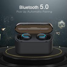 Bezprzewodowa Bluetooth V5.0 słuchawki Stereo TWS z redukcją szumów zestaw głośnomówiący słuchawki sportowe zestaw słuchawkowy do gier na telefon