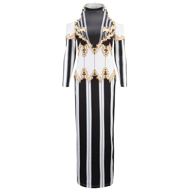 High QUALITY Paris Fashion 2018 Designer Runway Dress Kim Kardashian Women's Luxurious Hand Work Beading Maxi Long Dress 1
