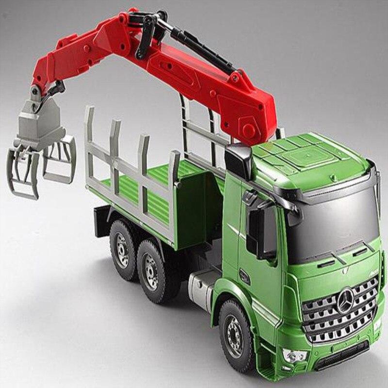 Grande taille simulation télécommande camion véhicules de Transport de voiture jouet 2.4g 6CH voiture jouet enfant meilleur cadeau Simulé lumières et sons