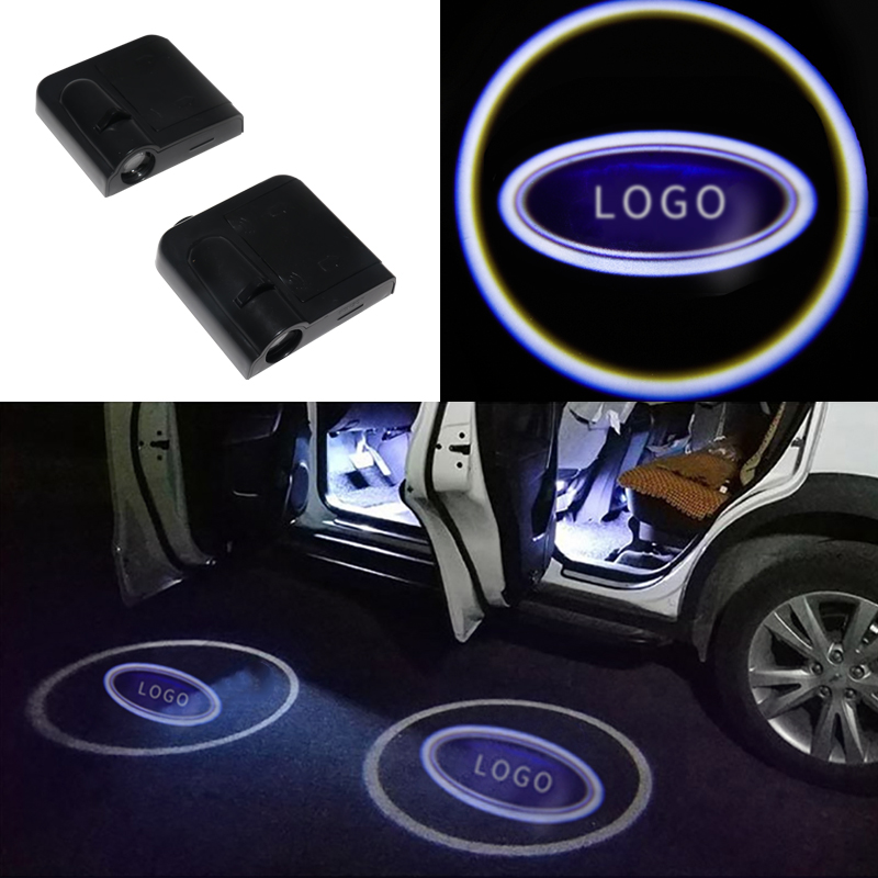 CARBINS 2pcs Wireless LED Car Door Light Welcome Laser Projector Logo Ghost Shadow Light Car styling Car Interior Lamp Lights-in Decorative Lamp from Automobiles & Motorcycles