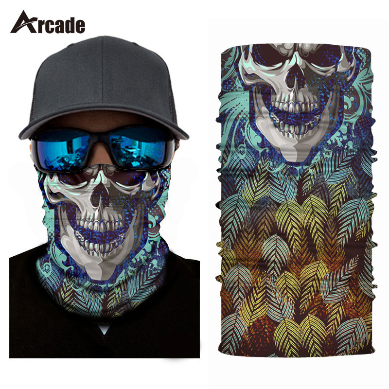 цена на Arcade Festival Motorcycle Face Mask Halloween Scarf Shield Joker Skull Balaclava Headband Festive Supplies Masquerade Masks