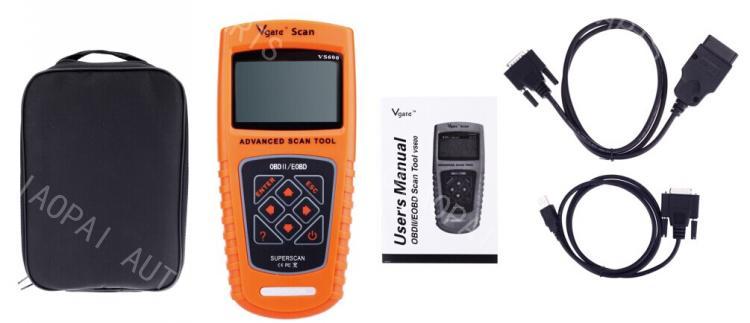 Super Scan tool VS600 OBDII/EOBD Scanner code reader OBDII auto scan car diagnostic tool diagnose even the toughest problems elm327 obdii v1 5 bluetooth auto car diagnostic scan tool white