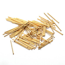New 100pcs Spring Test Probe Brass Tube Gold Plated Electrical Instrumentation Tool For Testing Circuit Board Test Tool R048-2C p048 j 100 pcs pack spring test probe phosphor bronze tube gold plated electrical instrument tool for testing circuit board