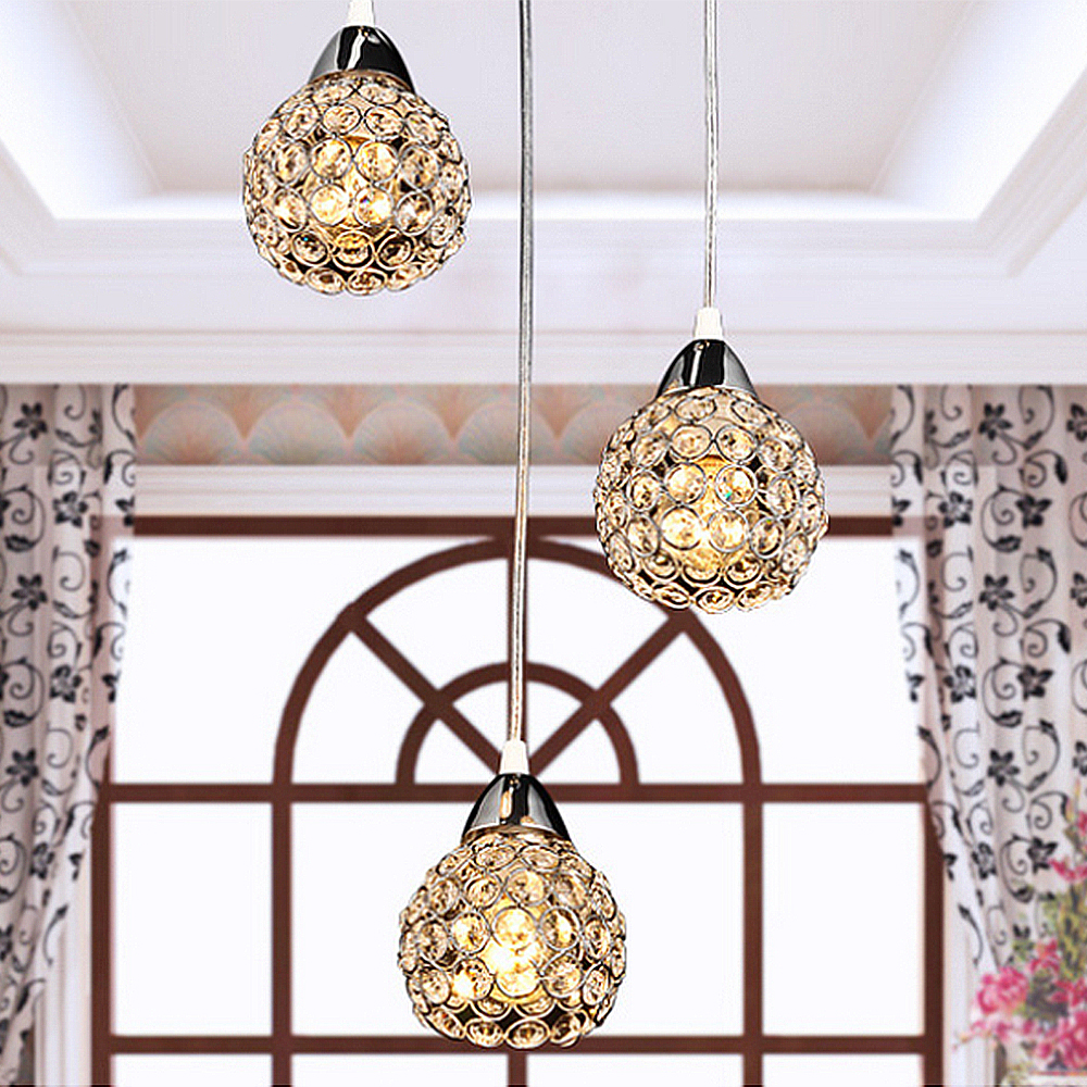 ASCELINA Crystal chandelier Light Modern Sconce E27 K9 crystal lamp Stairs Aisle foyer lamps shade for Home Decor Luminaire