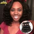 8A Bouncy Curl Peruvian Bob Hair 3 Bundles With Closure Peruvian Aunty Fumi Fumi Curly Weave Short Bob Human Hair With Closure