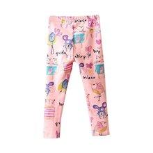 2016 New Toddler Kids Baby Girls Pants Cartoon Full Elastic Bottoms Casual Pants Trousers 1-8Y Y32