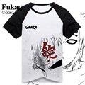 Japanese Anime Naruto T-shirt Fukage Gaara Cosplay T Shirt Fashion Men Cotton Short Sleeve Tops Tees