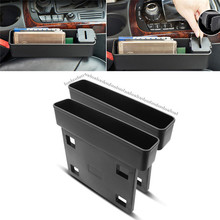 1Pc Black Car Seat Catcher Organizer Filler Console Side Pocket Fills the Gap Between the Seat Car Accessories