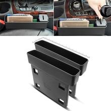 1Pc nero seggiolino auto Catcher Organizer Filler Console tasca laterale riempie lo spazio tra gli accessori per auto del sedile