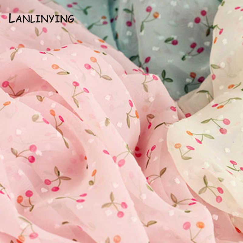 Weichen Bequemen Floral Druck Design Chiffon Stoff Für Kleid Pastoralen Kleine Floral Stoff Für Kleid DIY Material. D121