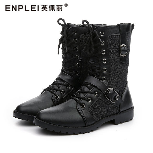 f5b6d3e5c8 ENPLEI high quality leather boots high cut shoe Men's outdoor hiking boots  size 38 43-in Motorcycle boots from Shoes on Aliexpress.com | Alibaba Group