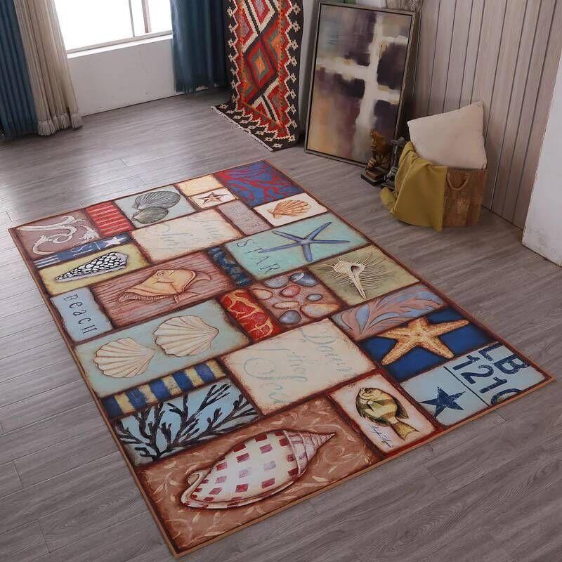 Tapis d'art moderne pour tapis de salon pour chambre à coucher table de thé persan tapete la chambre d'enfants méditerranéenne décor à la maison personnaliser