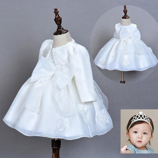 9fa2f48d97bb Baby Girl Princess Tutu Dress Bridesmaid Girls Baptism Dresses For ...