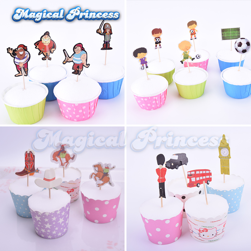 Word Cup Cupcake Topper Paper Sports Series Cake Insertion Football Cake Basketball Theme Cake Decoration Flag Be Novel In Design Bands Without Stones