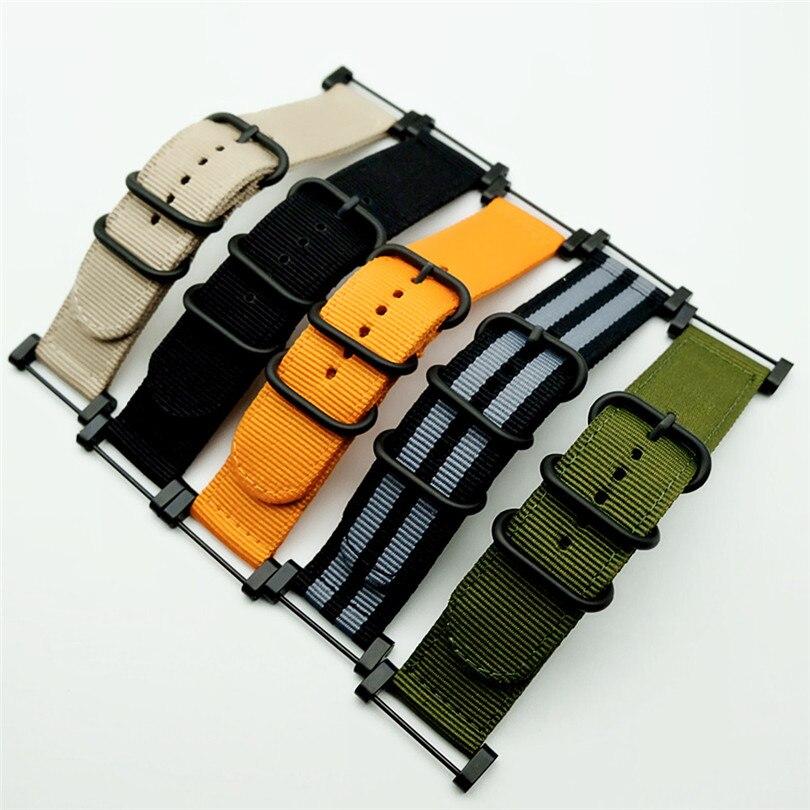 Venda quente para otan longo suunto núcleo cinta de náilon banda kit w talões adaptadores 24mm zulu pulseiras de relógio de náilon pulseira inteligente para homem
