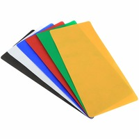 6 PCS PULUZ Collapsible Photography Studio Background 6 Colors Black White Red Blue Orange Green Size