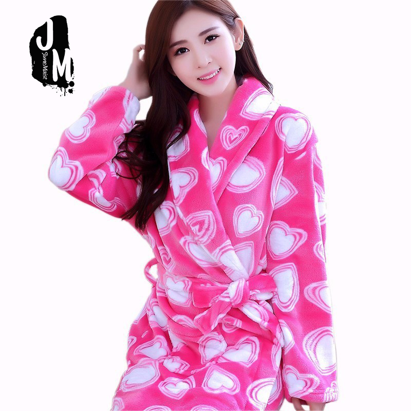 Mengshufen Winter bathrobe long bridesmaid robes floral Kimono Bath Robe Dressing Gown Coral Fleece Sleepwear Nightgown h687