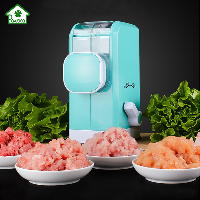 Multi Function Manual Meat Grinder Household Mincer Easy To Clean Mixer 6 Blade Imitation Knife