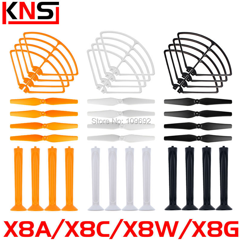 Free shipping 36pcs/lot Protective frame Propeller Landing gear Syma X8A X8C X8W X8G RC Quadcopter Blade Spare Parts Accessories свитшот print bar gnar
