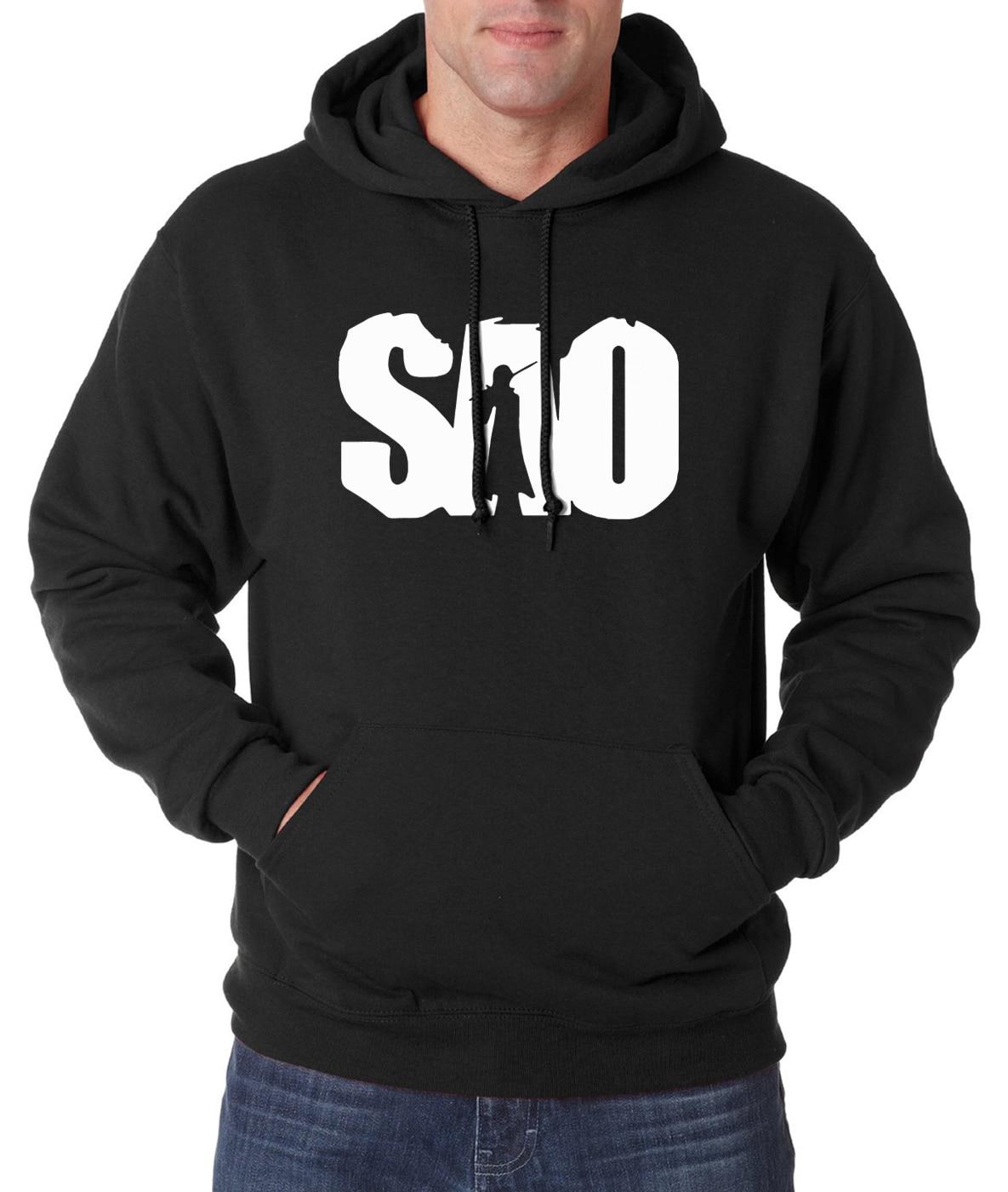 hot sale Anime S.A.O sweatshirts men 2019 spring winter new Sword Art Online hoodies men fleece fashion harajuku men hoodie