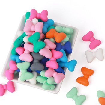 200Pc/lot Baby Teething Silicone BPA FREE Teether Toys DIY Baby Teething Necklace Nursing Materials Teether Beads Supplier