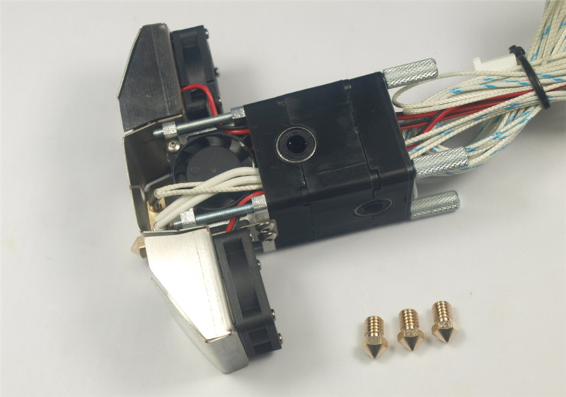 1.75/3mm Ultimaker 2 Extended 3D printer parts Ultimaker 2+ Extended Olsson block nozzle full hotend kit aluminum v6 hot end mount kit 1 75 3mm for ultimaker original ultimaker 2 um 2 extended 3d printer nozzle extrusion kit