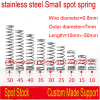 50pcs 0 8 8 35mm 0 8 35mm 0 8mm Stainless Steel Small Spot Spring Wire
