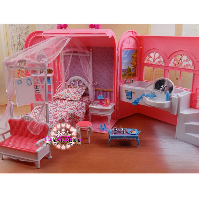 Miniature Furniture Bedroom Bathroom Suit Mini Accessories For