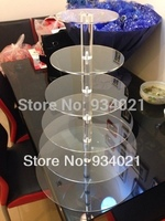 2015 High quality HIGH CLEAR 6 tiers acrylic cake stand for cup cake party decoration