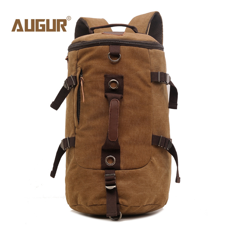2018 NEW AUGUR Men Backpack Canvas Large Backpack Shoulder Bag  Travel Bags Military Style High Quality casual canvas women men satchel shoulder bags high quality crossbody messenger bags men military travel bag business leisure bag