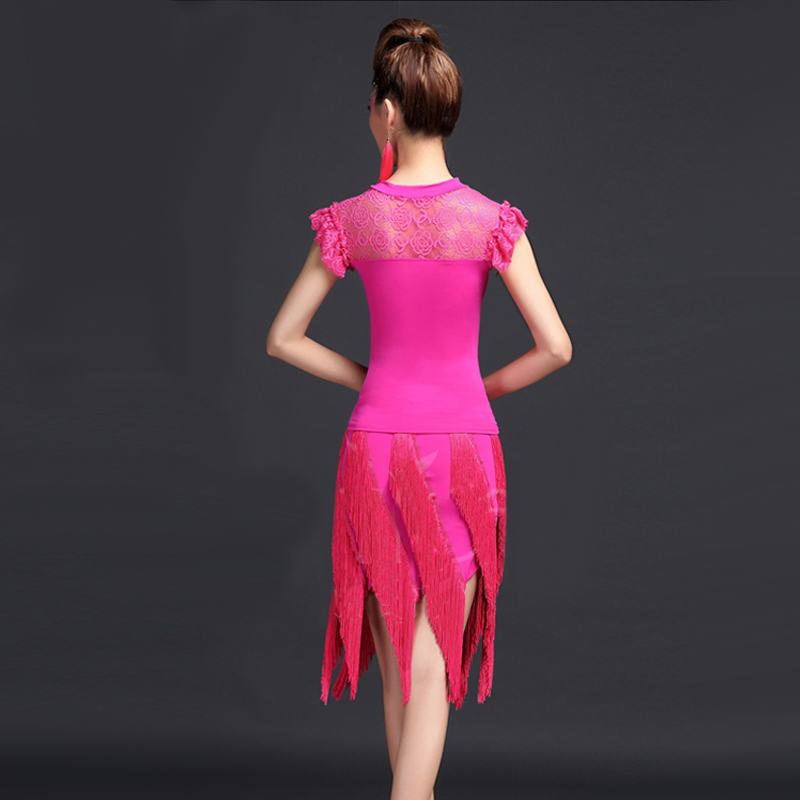 Compras baratas Latino danza vestido mujeres 2 unids (Tops + falda ...